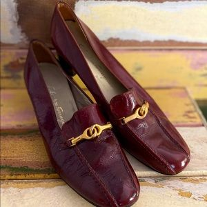 Salvatore Ferragamo Burgundy Leather Shoes (7)
